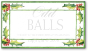 Product Image For Evergreen Border Reply Card